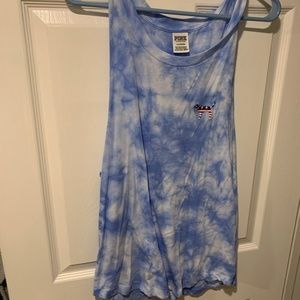 VS Pink Red white and blue tank